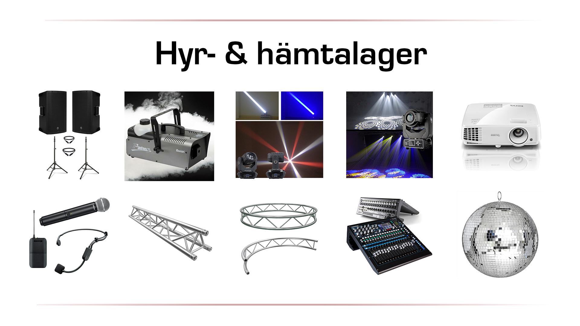 Hyr_och_hämtalager_ljud_ljus i Vänersborg, Trollhättan & Uddevalla